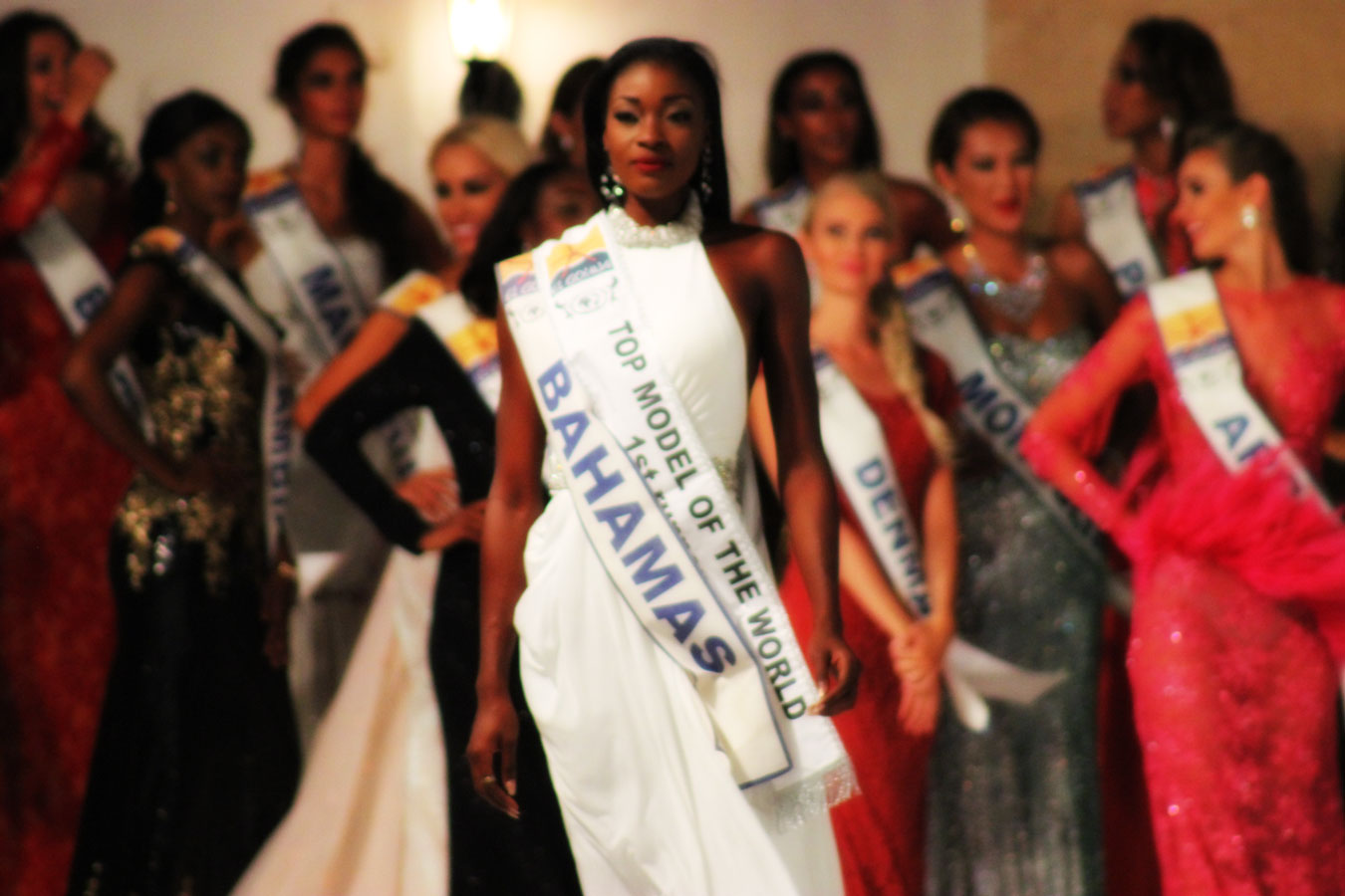 Bahamas Masqueraders Brand Ambassador Celeste Marshall named first runner up at the 22nd annual Top Model of the World