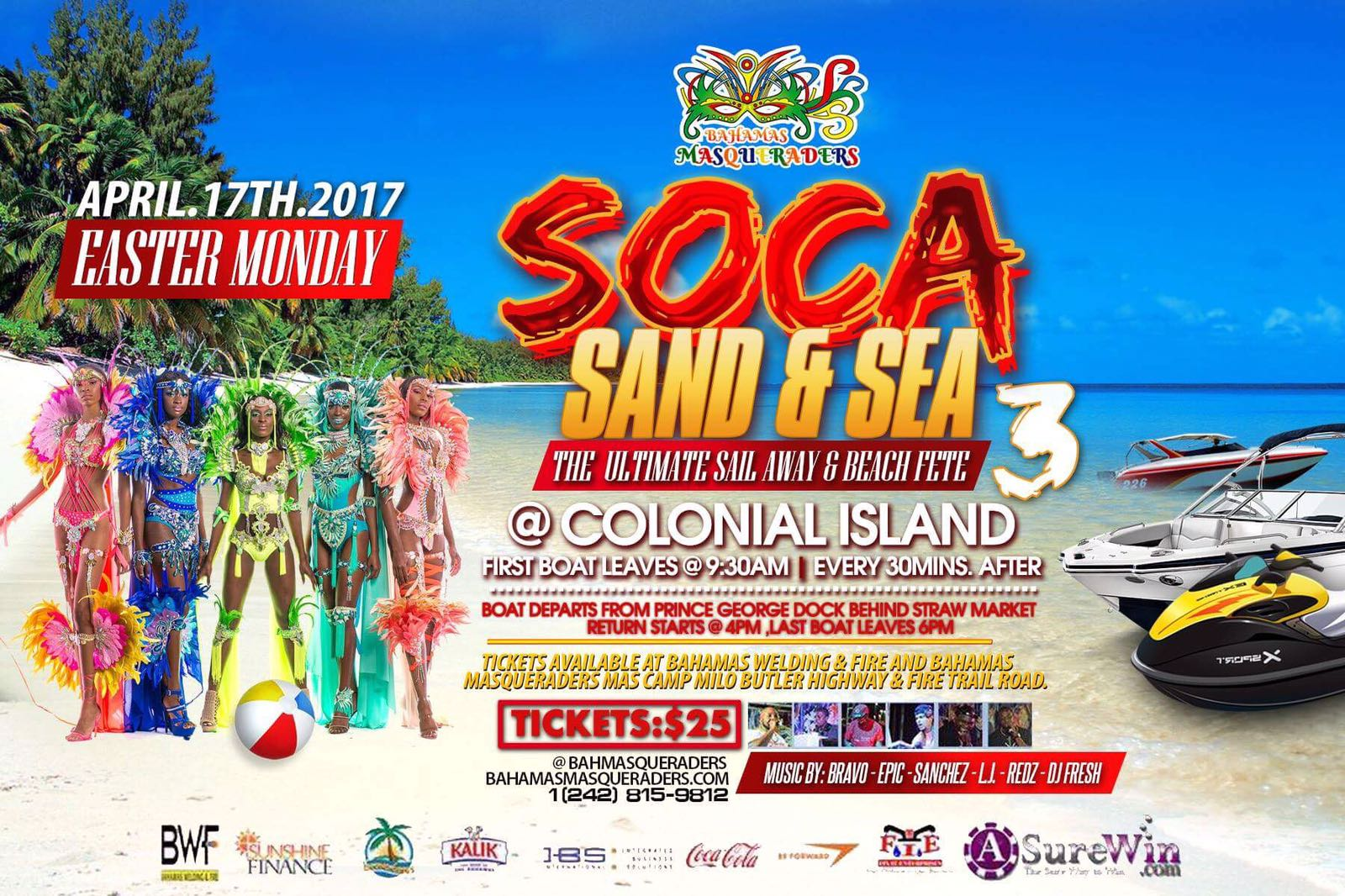 Bahamas Masqueraders Easter monday Sailaway April 17, 2017 - Bahamas Junkanoo Carnival